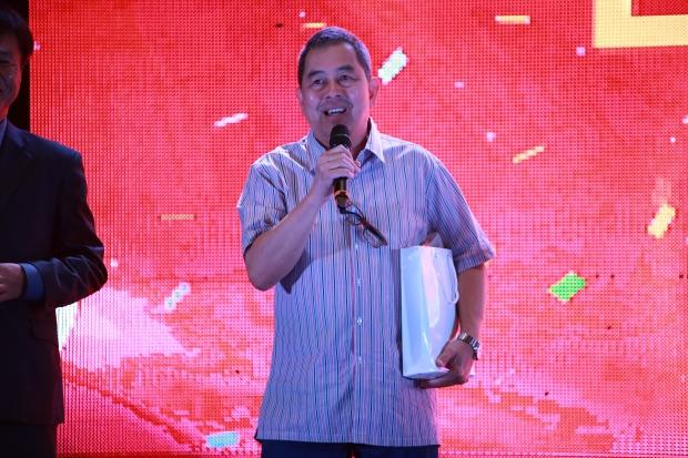필리핀 이민청 본청 리카르도 국장이 축사를 하고 있다.